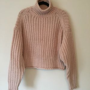 Turtle neck chunky sweater